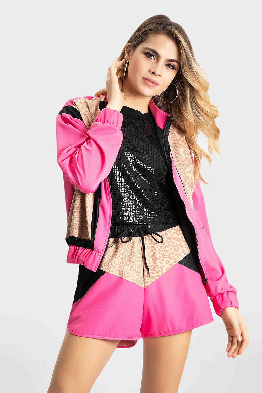 Jaqueta bomber fashion planet girls rosa PP