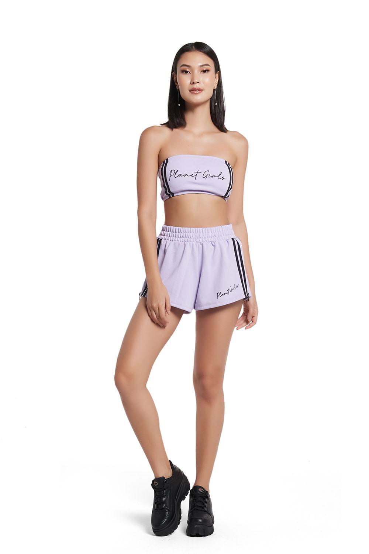 Shorts faixa e ziper nas laterais winter collection planet girls roxo medio G