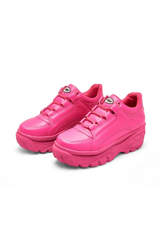 Tenis bufalo planet girls rosa médio 34