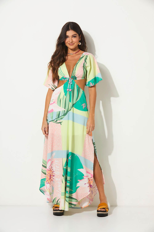 Vestido detalhe estrela summer fashion planet girls estampado PP